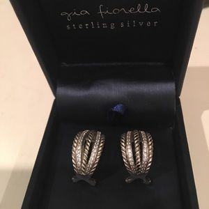 Gia Fiorella sterling silver zirconium earrings
